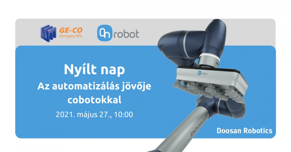 Copy of 2021. május 27., 1000 Nyílt nap Az automatizálás jövője cobotokkal